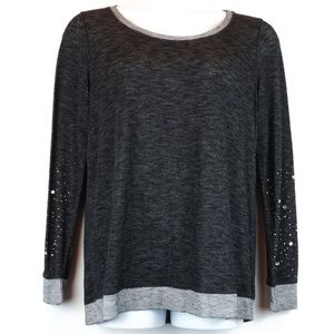 Maurices Long Sleeve Top Gem Sleeves Crew Neck